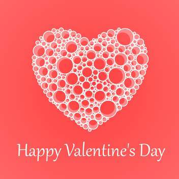Vector card for Valentine's Day with heart made of bubbles - бесплатный vector #125881