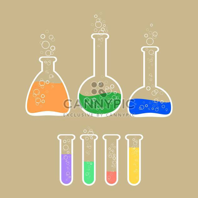 Vector illustration of laboratory apparatus with colorful solution - Kostenloses vector #125971