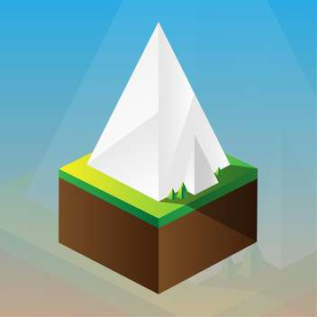 square maquette of mountains on blue background - vector #126191 gratis