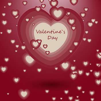 Vector illustration of red romantic love background with white hearts - vector gratuit #126201