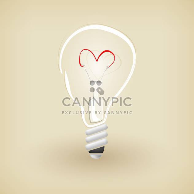 Vector illustration of light bulb on brown background - Free vector #126221