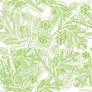 Vector floral background in white and green colors with ornate leaves - vector #126231 gratis