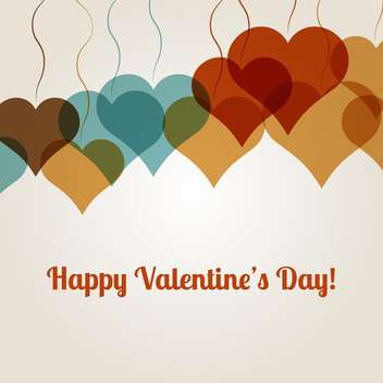 Vector background for Valentine's Day with colorful hearts on white background - vector gratuit #126251