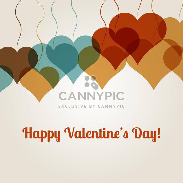 Vector background for Valentine's Day with colorful hearts on white background - Free vector #126251