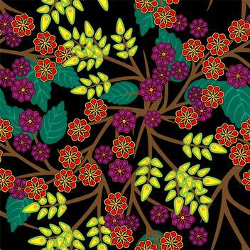 Vector floral background with colorful flowers - vector gratuit #126321