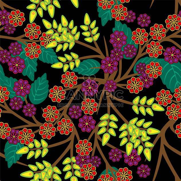 Vector floral background with colorful flowers - Free vector #126321