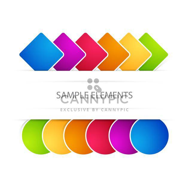 Vector web colored elements on white background with text place - Free vector #126371