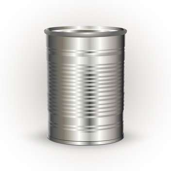 Vector illustration of metal tin can on white background - vector gratuit #126401