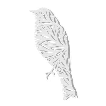 Vector illustration of beautiful paper bird on white background - vector gratuit #126451