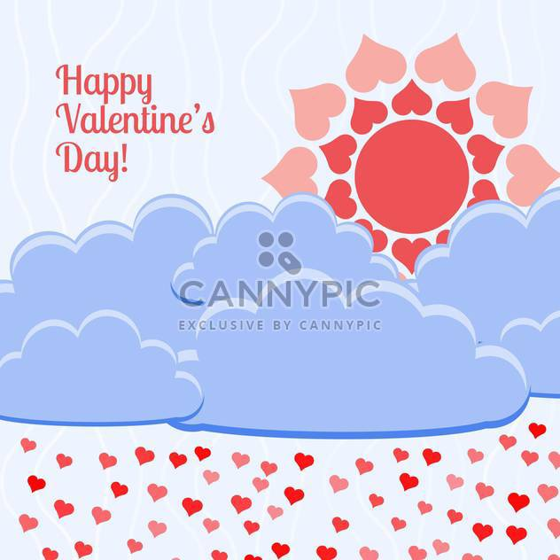Vector card for holiday background heart shape flowers - Free vector #126461