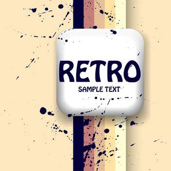 Vector retro background with text place and paint signs - vector gratuit #126471