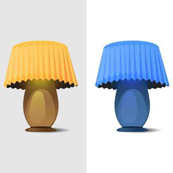 Vector illustration of two table lamps on white background - vector gratuit #126521