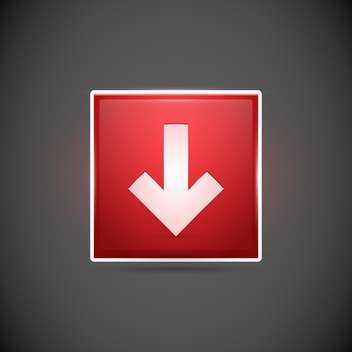 Vector illustration of red button with white arrow on green background - vector gratuit #126531