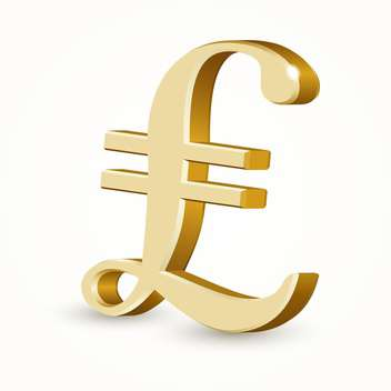 Vector illustration of golden Italy lira sign on white background - vector gratuit #126541