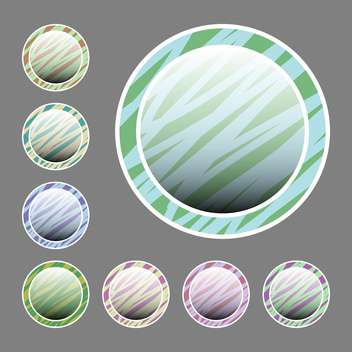 Vector set of colorful round buttons on grey background - vector gratuit #126551