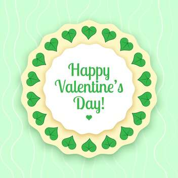 vector illustration of greeting card for Valentine's day - vector gratuit #126681