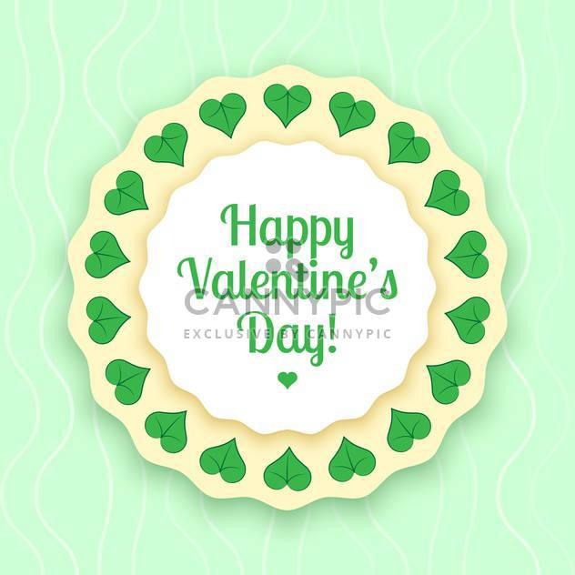 vector illustration of greeting card for Valentine's day - Free vector #126681