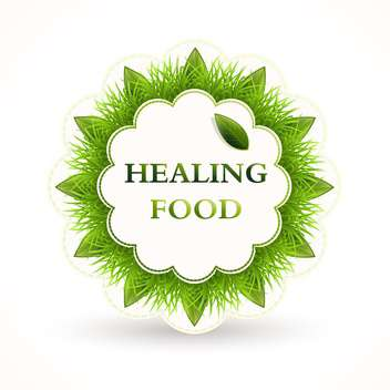 vector icon round shaped for healing food on white background - vector gratuit #126751