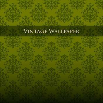Vector colorful vintage wallpaper with floral pattern - vector #126821 gratis