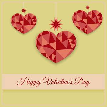 Vector greeting card with hearts for Valentine's day - vector gratuit #126841