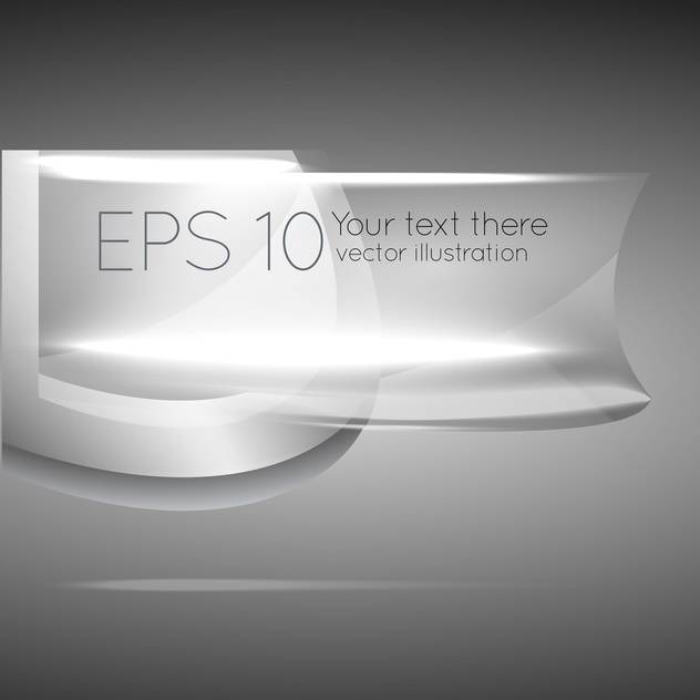 vector illustration of silver banner on grey background - Free vector #126911
