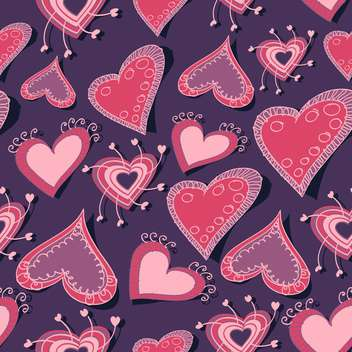 Vector background with hearts for valentine card - vector #126931 gratis