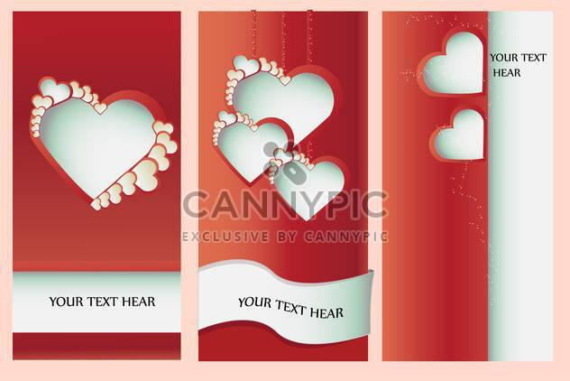 Vector illustration of Valentine greeting card with hearts - Free vector #126951