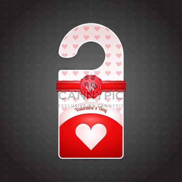 Valentine day door hanger on dark background - Kostenloses vector #127051