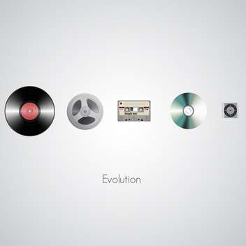 Sound technology evolution on white background - vector gratuit #127131