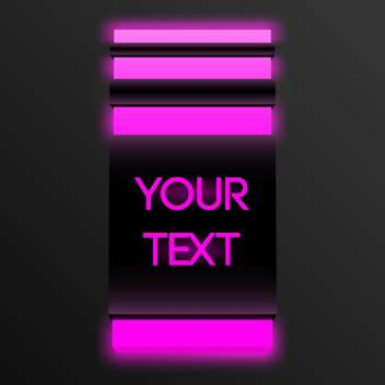 Vector glowing button with text place - vector gratuit #127221