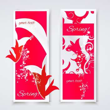 Vector illustration of abstract spring art banners - бесплатный vector #127251