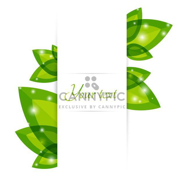 Fresh green leaves vector border with text place - Free vector #127331