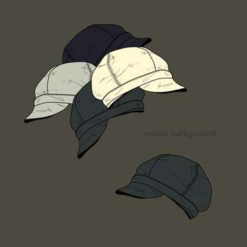 Vector background with fashion male hats - Free vector #127361