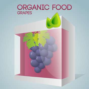 Vector illustration of grapes in packaged for organic food concept - vector gratuit #127381