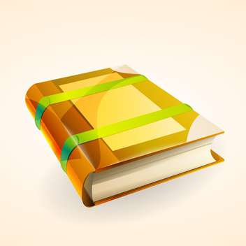Vector illustration of closed book with text place - vector #127401 gratis