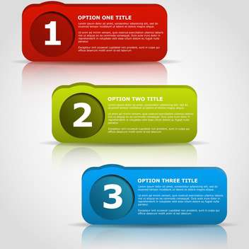 Web Design badges with text place on white background - vector gratuit #127451