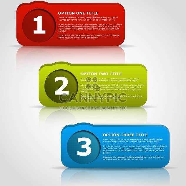 Web Design badges with text place on white background - Free vector #127451