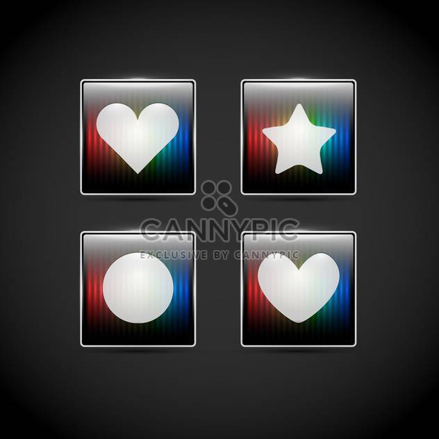 Vector square web elements on black background - Free vector #127461