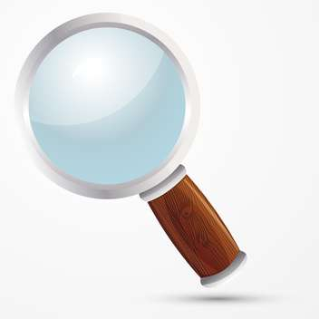 vector illustration of magnifying glass on white background - vector gratuit #127481