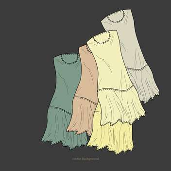 Vector background with fashion dresses - vector gratuit #127651