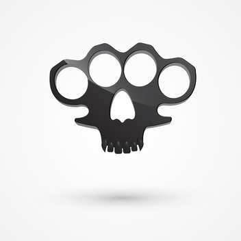 black color brass knuckles on white background - бесплатный vector #127721