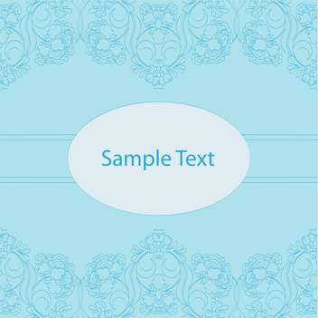 Vintage blue background with text place and floral pattern - vector gratuit #127851