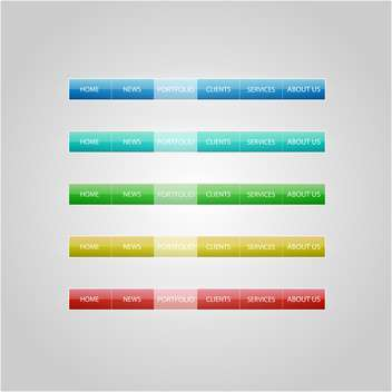 colorful website design buttons on grey background - vector gratuit #127871