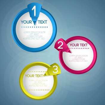 three circles on blue background with text place - vector #127921 gratis