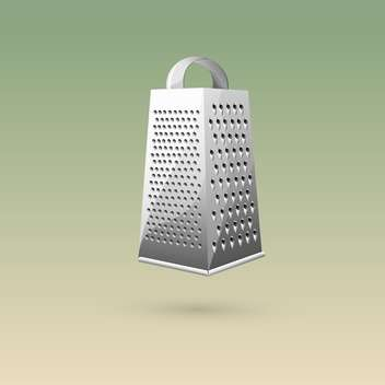 kitchen grater on colorful background - vector gratuit #127991