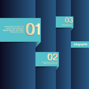 Blue background with numbers, vector illustration - vector #128171 gratis
