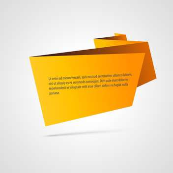 Paper origami vector banner, isolated on white background - Free vector #128191