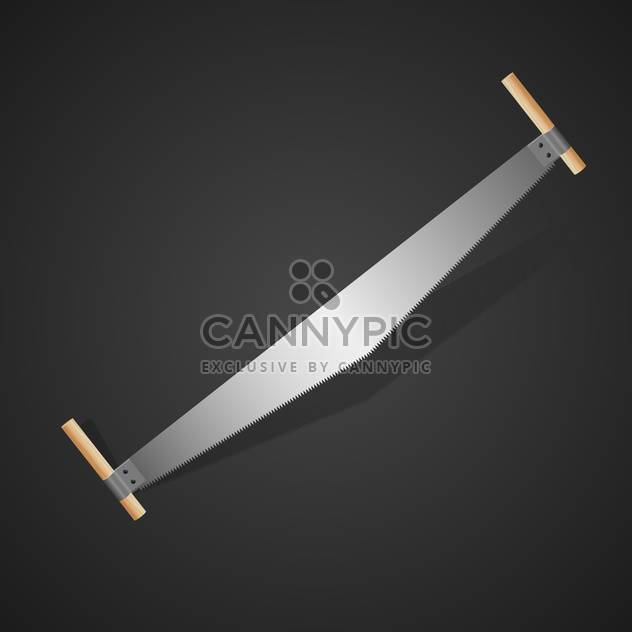 Two-handed saw, vector Illustration - Free vector #128201