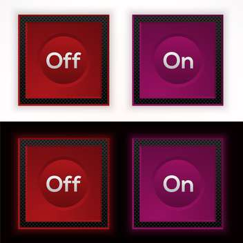 Web on and off buttons, vector illustration - Free vector #128231