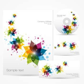 Floral corporate template vector - vector gratuit #128281